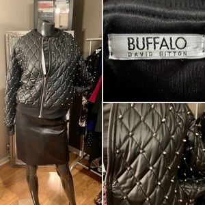 📌BRAND NEW! Black stud BUFFALO jacket.